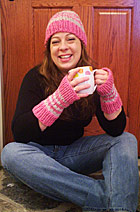 Download Slip Stitch Stripe Hat and Mitts