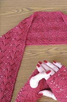 Beaded Lace Scarf & fingerless gloves