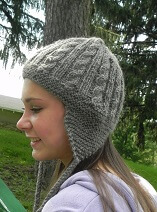 Download Cables and Earflaps Hat