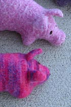 Download Felted Pigs