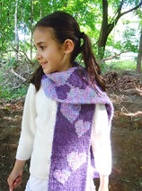 Double Knitted Double Heart Scarf