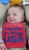 Baby's Made In The USA Bib