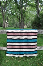 Meandering Rows Afghan